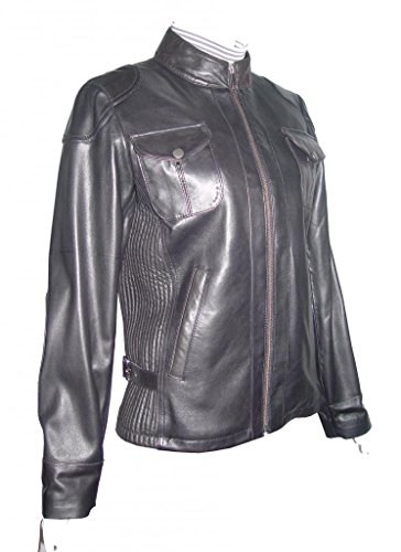Paccilo FREE tailoring Women 4047 Lambskin Real Leather Motorcycle Jacket