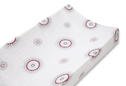 aden + anais Classic Muslin Changing Pad Cover, Liam The Brave - Medallions (Discontinued by Manufacturer)