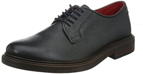 Base London Maudslay da uomo in pelle derby scarpe Navy, Uomo, Navy, UK Size 9 (EU 43, US 10)