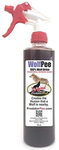 Predator Pee - 100% Pure Wolf Urine - 16oz Trigger Spray Bottle (Wolf Spray compare prices)