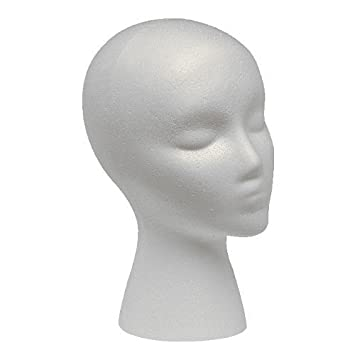 Styrofoam Wig Head (Female)
