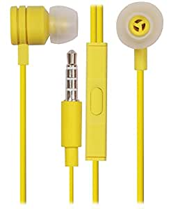 Jkobi 3.5mm In Ear Bud Handsfree Headset Earphones With MIC For ZTE BLADE A1-YELLOW