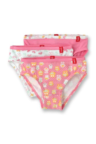 Esprit Bodywear Girls B9637/Owl Aop Slip Set Of 3 Pink (Bb ) 116/122