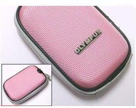 Semi-Soft Camera Case (PINK) For Olympus MJU 1000/750/740/730/720SW