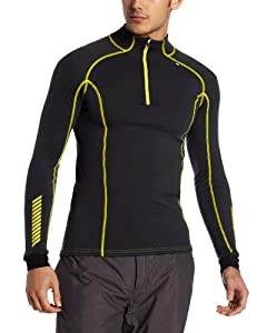 Helly Hansen Men's Warm Freeze 1/2 Zip Base Layer Top - Ebony, Small