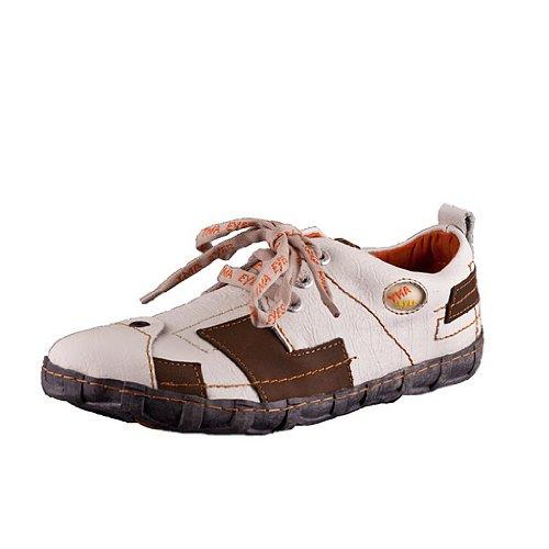 TMA EYES 2618 Schnürer Gr.37-42 mit bequemen perforiertem Fußbett 100% Leder 39.35 super leichter Schuh der neuen Saison. ATMUNGSAKTIV in Weiss Gr. 41