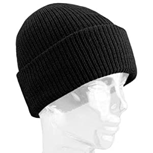 WIGWAM MILLS INC F4707-052-OS WORSTED WOOL WATCH CAP - BLACK