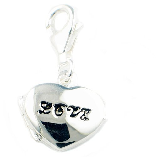 Welded Bliss Sterling 925 Silver Love Heart Locket Key Charm WBC1029
