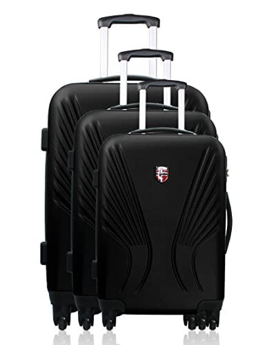 Geographical Norway Set 3 Trolley 4 Ruote Seattle [Nero]