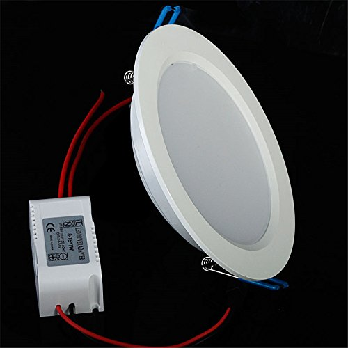 Lvjing Brand New 3000K Recessed Round Ceiling Panel Down Light Lamp Led Energy Saving Ultra Thin And Bright Led Lighting (Warm White, 21W Non-Dimmable)
