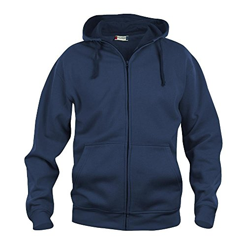 Felpa maglia cardigan full-zip cappuccio uomo cotone CQ021034 - Blu, 5XL