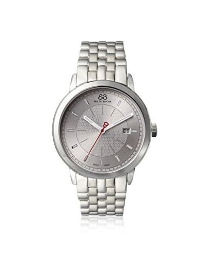 88 Rue du Rhone Men's 87WA140001 Double 8 Origin Analog Display Swiss Quartz Silver Watch