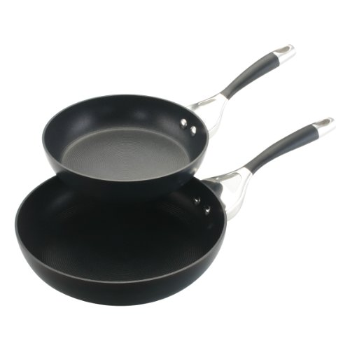 Circulon Elite Hard Anodized Nonstick 8-Inch and 10-Inch Deep Skillet Twin Pack