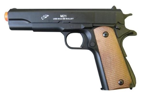 Double Eagle 1911A1 Metal and ABS Spring Airsoft Pistol 250-FPS Airsoft Gun