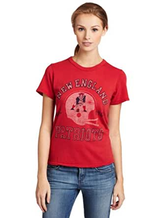NFL New England Patriots Heather Vintage Short Sleeve Crew, Women's Rustic, Small