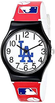 "Game Time Youth MLB-JV-LA ""JV"" Los Angeles Dodgers Watch with MLB Graphic Band"