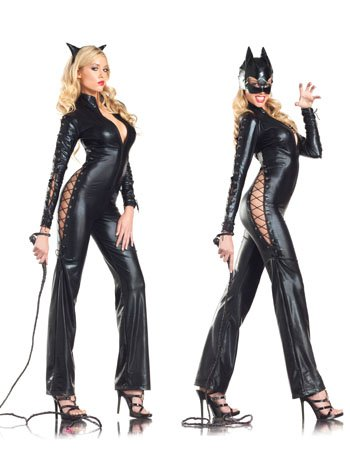 Two Faced Sexy Catwoman Costume - SMALL/MEDIUM