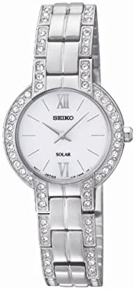 Seiko Women's SUP199 Dress Solar Modern Crystals Japanese Quartz Watch