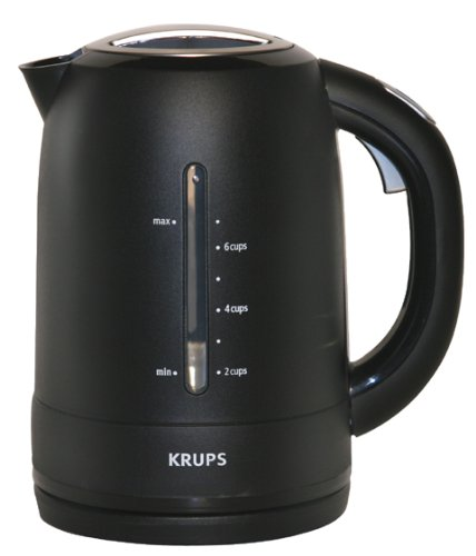 Krups Flf2J4 Cordless Electric Kettle, Black