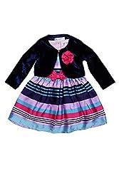 Soul Fairy Baby Girls' Dress (CHRDRSSTN15A_Navy_12-18 Months)