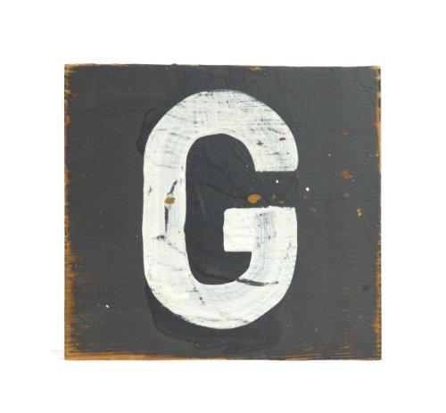 ZENTIQUE Wooden Letter, Small, Monogrammed G - 1