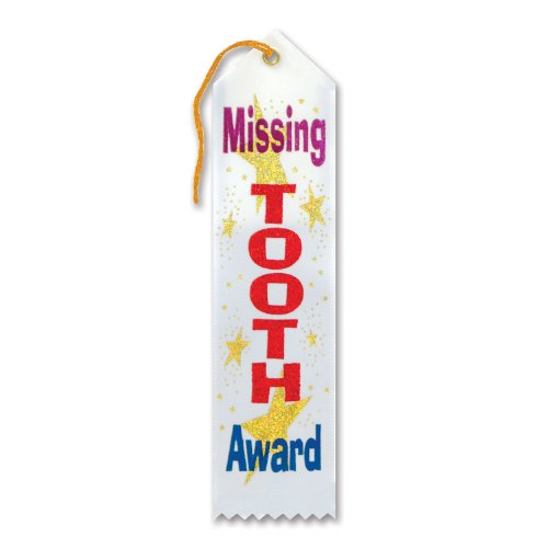 "Missing Tooth Award Ribbon 2"" x 8"" Party Accessory - 1"