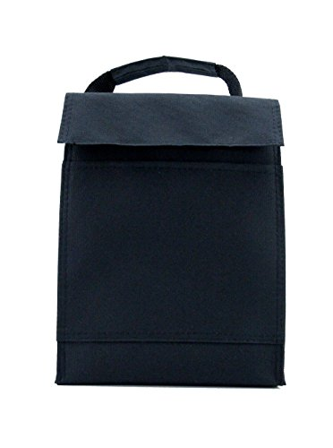Colorful Velcro Lunch Pack/ Lunch Cooler/ Cooler Tote Bag (Black) - 1