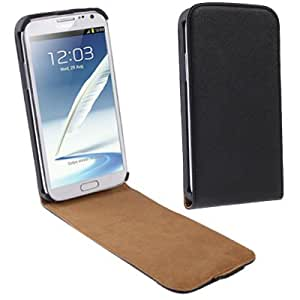Cross Texture Vertical Flip Leather Case for for Samsung Galaxy Note 2 N7100 (Black)