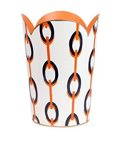 Jayes Chains Tulip Wastebasket, Orange