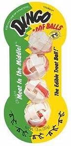 2 Pack Dingo Goof Balls Sm 4pk (Catalog Category: Dog / Novelty Rawhide-packaged)