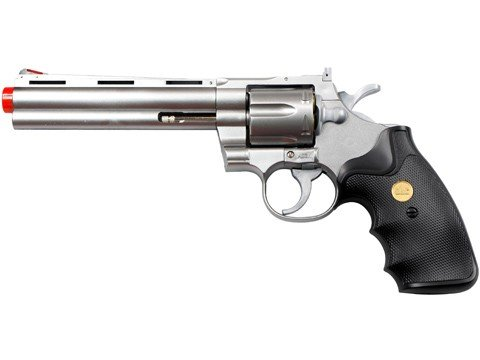 TSD Sports UG139SR 6 Inch Gas Powered Non-Blowback Airsoft Revolver (Silver) (Gas Airsoft Guns compare prices)