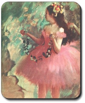 Degas - Dancer in Rose Dress - Mouse Pad