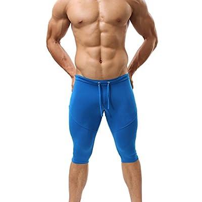 YOLL Men Sexy Gym Running Bike Boxer Shorts Bicycle Tight Sport Workout Pants