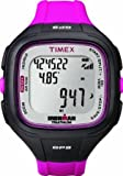 Timex T5K753 Ironman Easy Trainer GPS Resin Strap Trainer Watch, Full Size, Black/Pink