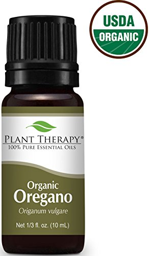 USDA Certified Organic Oregano Essential Oil. 10 ml (1/3 oz). 100% Pure, Undiluted, Therapeutic Grade.