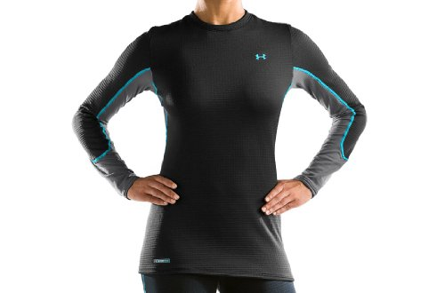 Women's Basemap 2.5 Baselayer Crew Tops by Under Armour