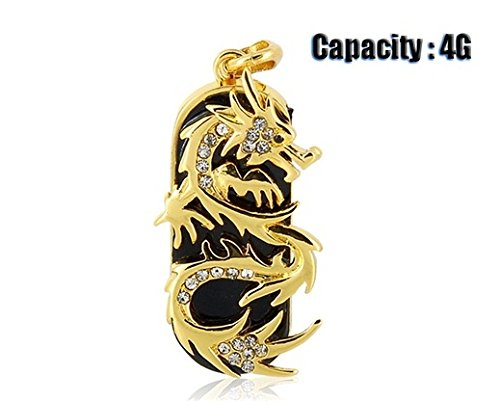 Jmc089 4gb Dragon Design USB Flash Drive with Jewelry Surface (Gold)