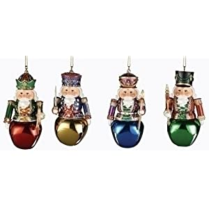 Club Pack of 12 Nutcracker Jingle Bell Christmas Ornaments
