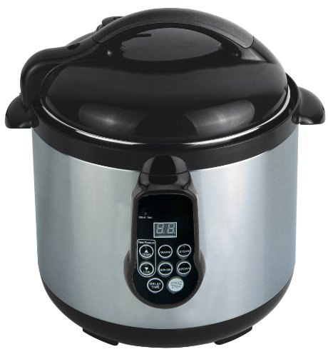 GoWISE USA GW22600 Electric 4 in 1 Programmable Stainless Steel Pressure Cooker