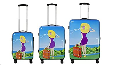 Case Nice Size L Carbon/100% Pure Polycarbonate Hard Shell Suitcase Trolley Case by Bowatex