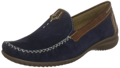 Gabor Women's California Nubuck Navy/Copper Ballet 46.090.46 7.5 UK