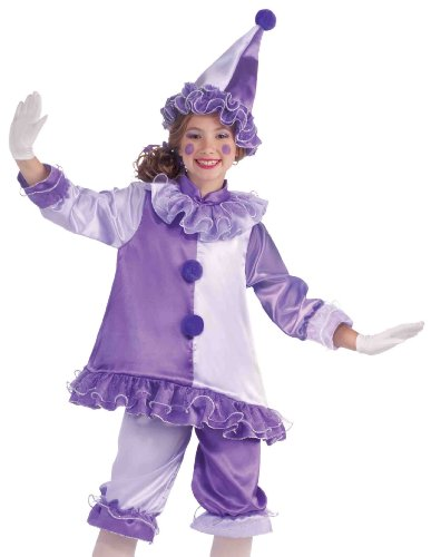 Forum Kids Purple Harlequin Outfit Girls Clown Halloween Costume