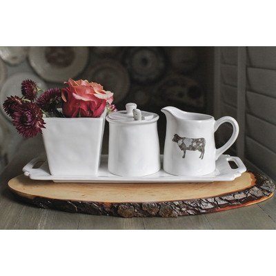 Creative Co-Op Dolomite Tray With Three Serving Containers