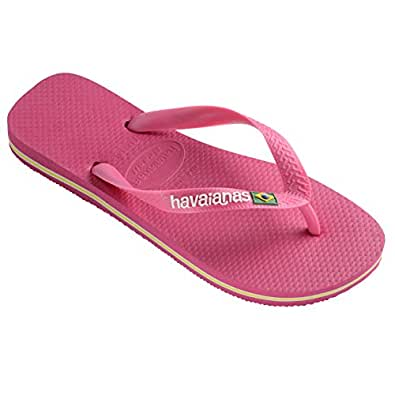 Amazon.com: Unisex Kids Havaianas Brasil Logo Beach Slip On Rubber Toe