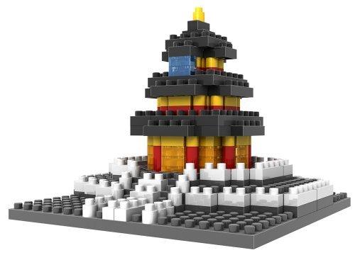 Loz Micro Blocks - Temple of Heaven Model - Small Building Block Set - Nanoblock Compatible 220 pcs - Makes a Great Stocking Stuffer