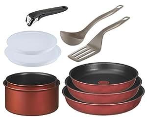 tefal ingenio 5 l3218702 10 piece cookware set induction safe ptfe polytetrafluoroethylene. Black Bedroom Furniture Sets. Home Design Ideas