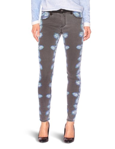 American Retro - Jeans, donna, Blu (Bleu (Print)), 38/40 IT (25W/32L)