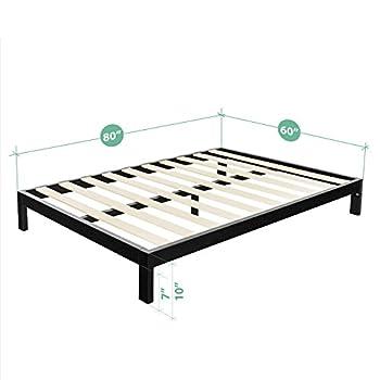 Zinus Modern Studio 10 Inch Platform 2000 Metal Bed Frame / Mattress Foundation / no Boxspring needed / Wooden Slat Support / Good Design Award Winner, Queen