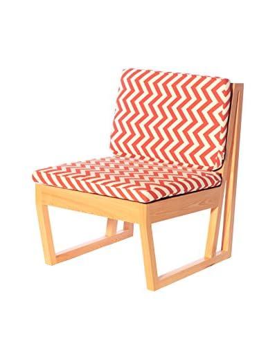 nine6 Design Modern Verdana Cypress Side Chair with Cushion, Canyon Zig Zag