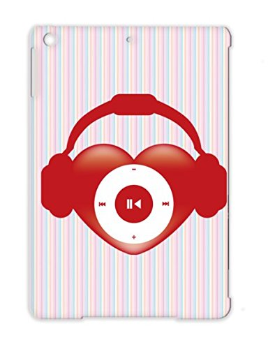 Heart Beat Sound Music Design Miscellaneous Music Pop Heart Headphones Icon For Ipad Air Red Cover Case